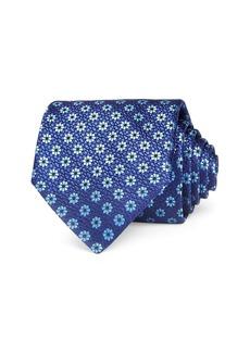 Canali Floral Grid Silk Classic Tie