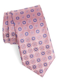 Canali Floral Medallion Silk X-Long Tie
