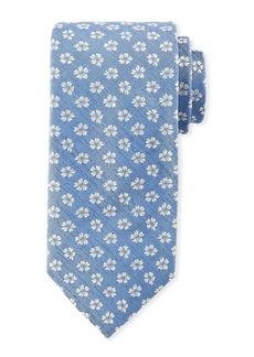 Canali Floral Pattern Silk Tie