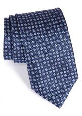 Canali Geometric & Floral Silk Tie (X-Long)