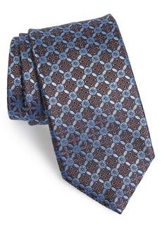 Canali Geometric Flower Silk Tie