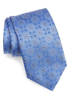 Canali Geometric Medallion Silk Tie