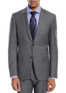 Canali Geometric Wool Two-Piece Suit