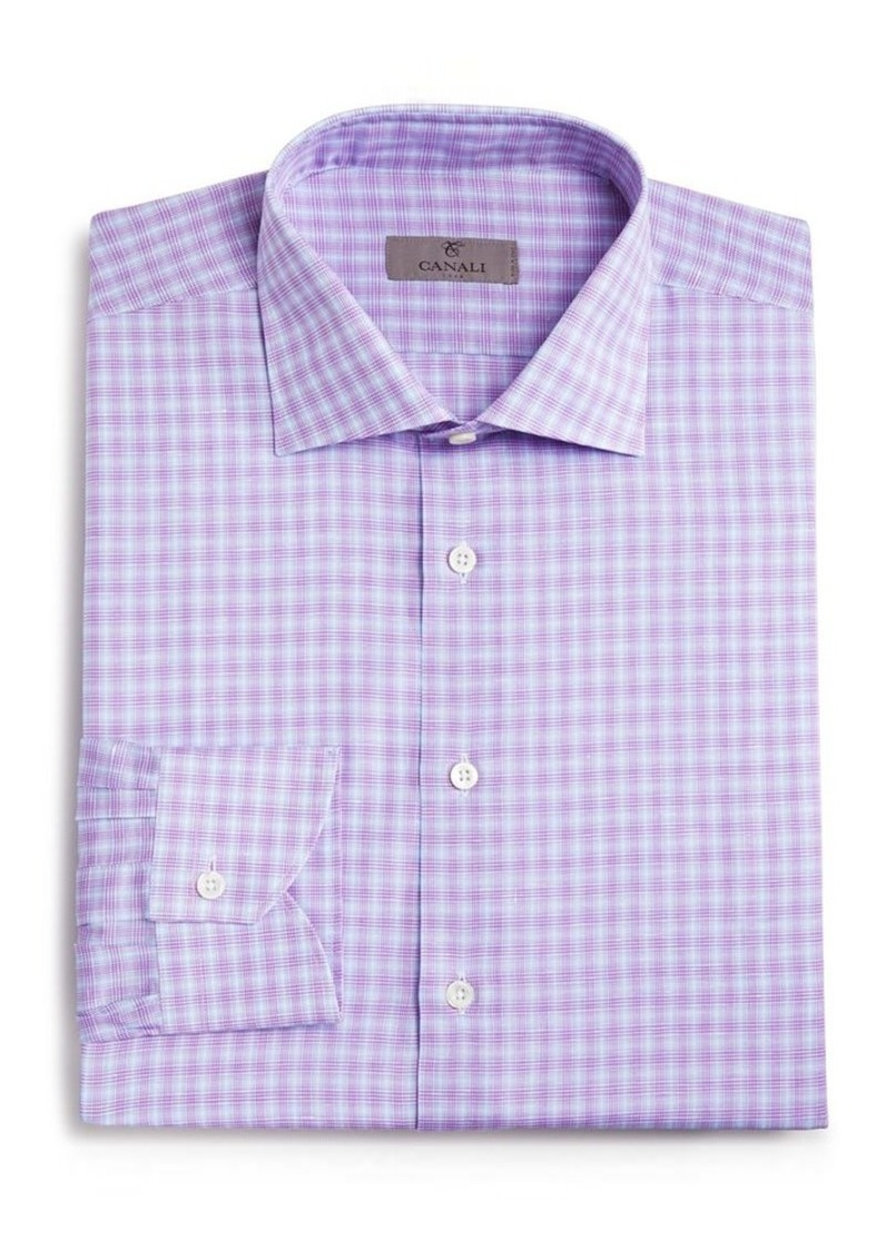 Canali Glen Check Regular Fit Dress Shirt
