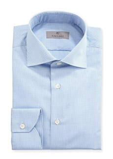 Canali Graph-Check Dress Shirt