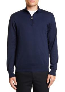 Canali Half Zip Cotton Sweater
