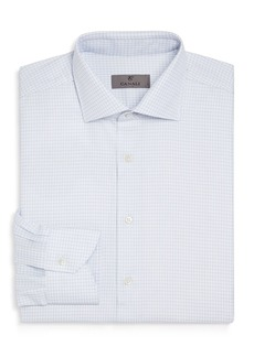 Canali Impeccabile Grid Regular Fit Dress Shirt