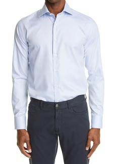 Canali Impeccabile Regular Fit Dress Shirt