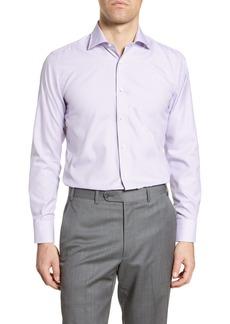 Canali Impeccabile Regular Fit Plaid Dress Shirt
