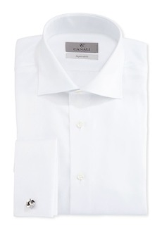 Canali Impeccabile Solid Twill Dress Shirt