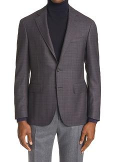 Canali Kei Classic Fit Stepweave Wool Blazer