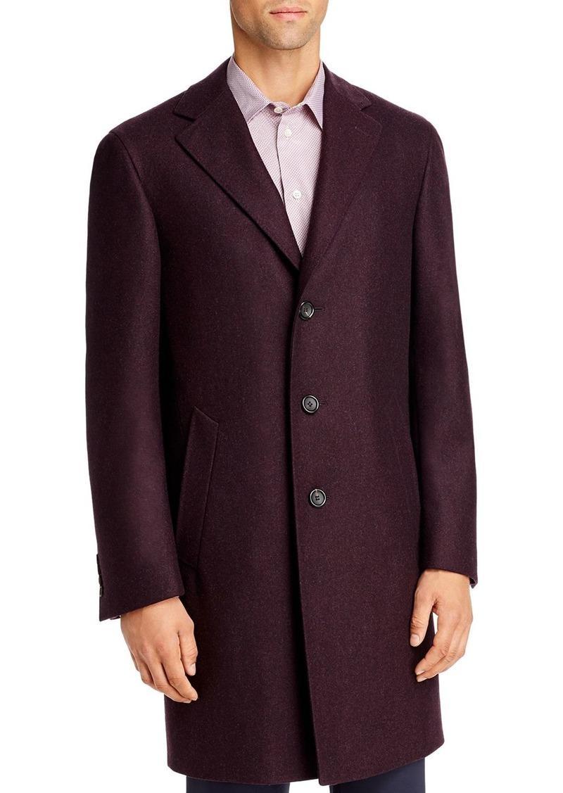 Canali Kei M�lange Wool Classic Fit Topcoat