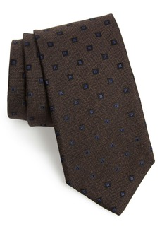 Canali Medallion Silk & Wool Tie