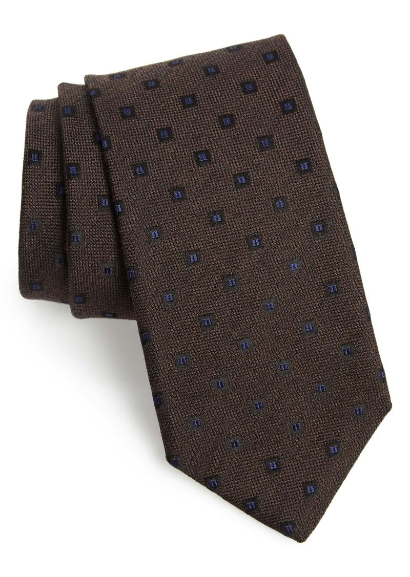 Canali Medallion Silk & Wool Tie