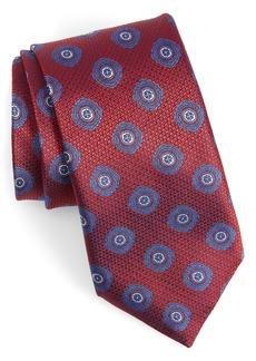 Canali Medallion Silk X-Long Tie