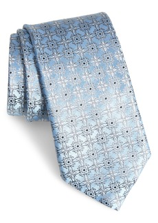 Canali Medallion Silk X-Long Tie