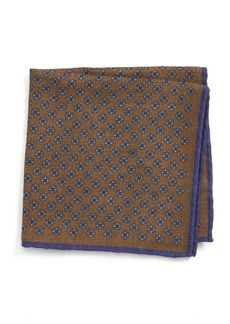 Canali Medallion Wool Pocket Square