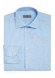 Canali Melange Gingham Regular Fit Dress Shirt