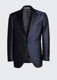 Canali Men's Floral Jacquard Dinner Jacket