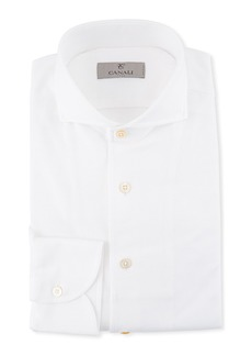 Canali Men's Pique Knit Dress Shirt