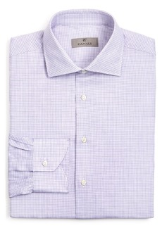 Canali Micro Check Regular Fit Dress Shirt