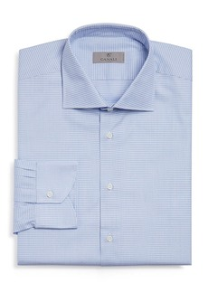 Canali Micro-Houndstooth Regular Fit Dress Shirt