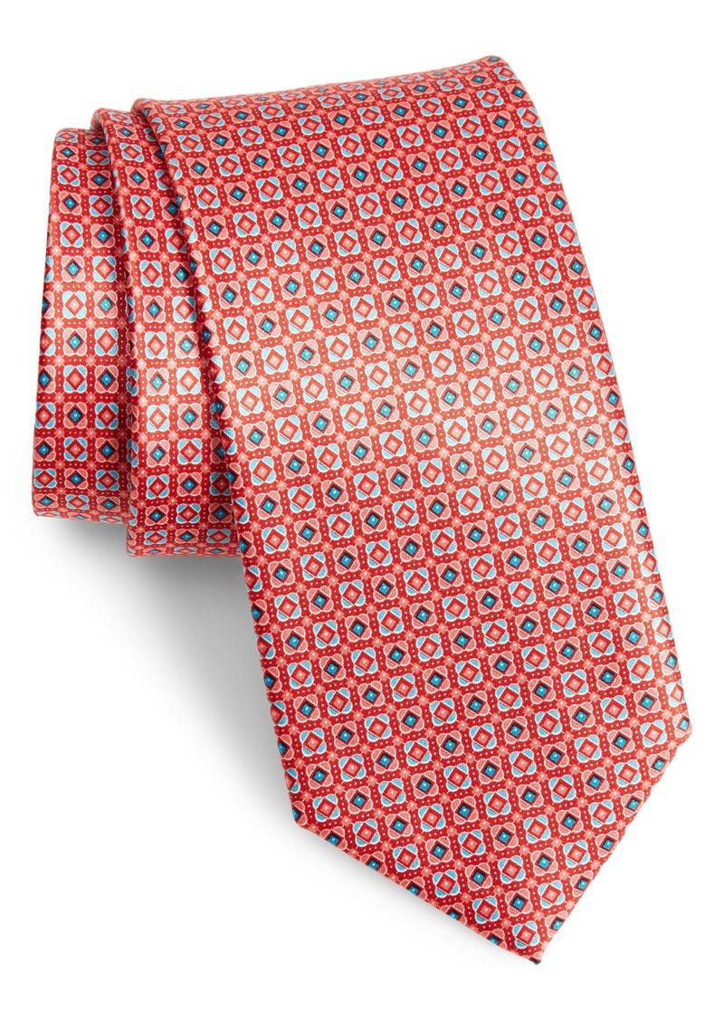 Canali Micro Medallion Silk Tie