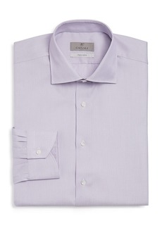 Canali Micro-Textured Solid Regular Fit Dress Shirt