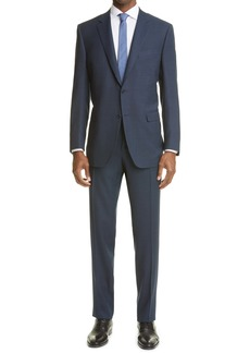 Canali Milano Classic Fit Textured Wool Suit