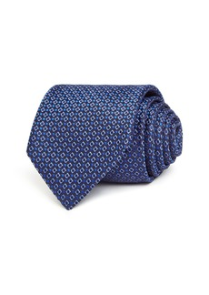 Canali Mini Dot Diamond Grid Silk Classic Tie