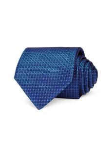 Canali Mini Dot Grid Silk Classic Tie