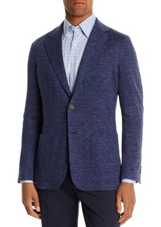 Canali M�lange Chevron Slim Fit Jersey Jacket