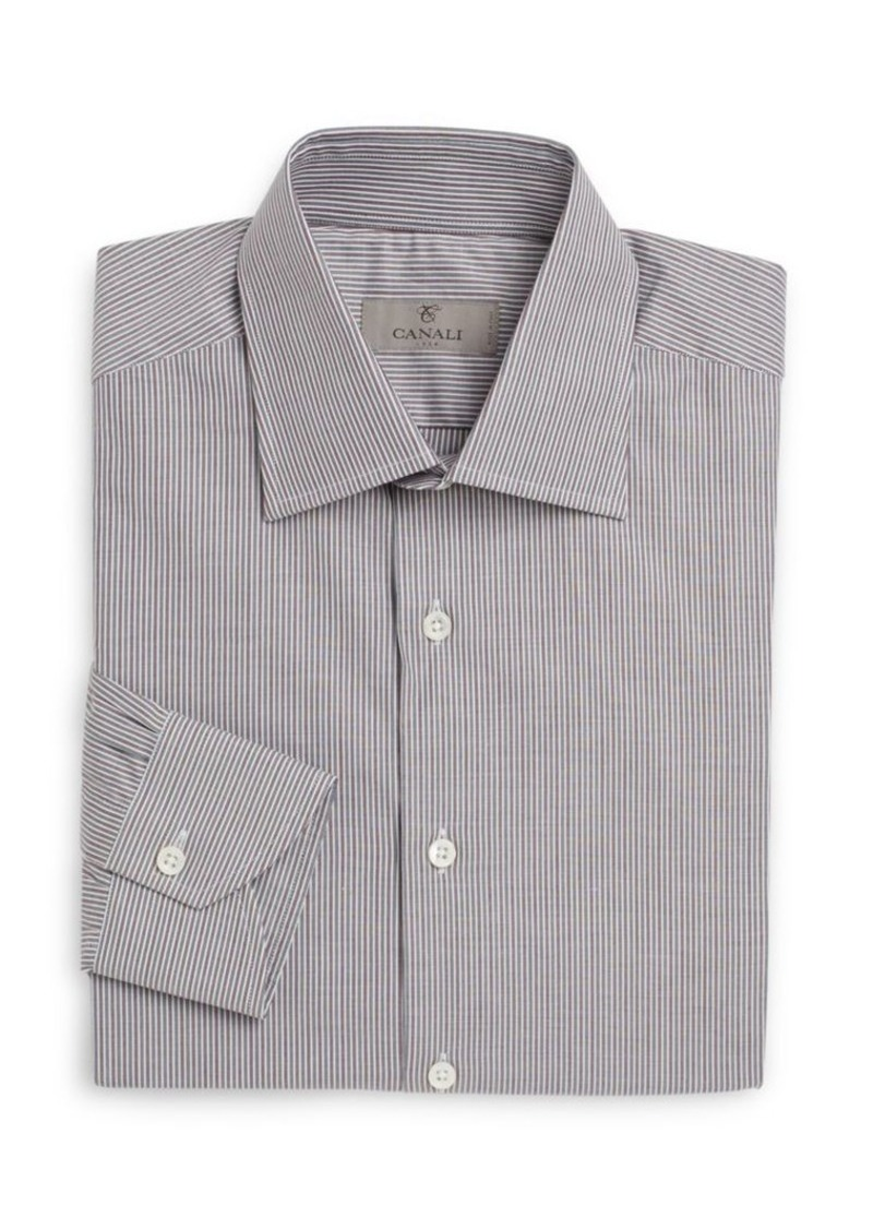 Canali Modern-Fit Shadow Striped Dress Shirt