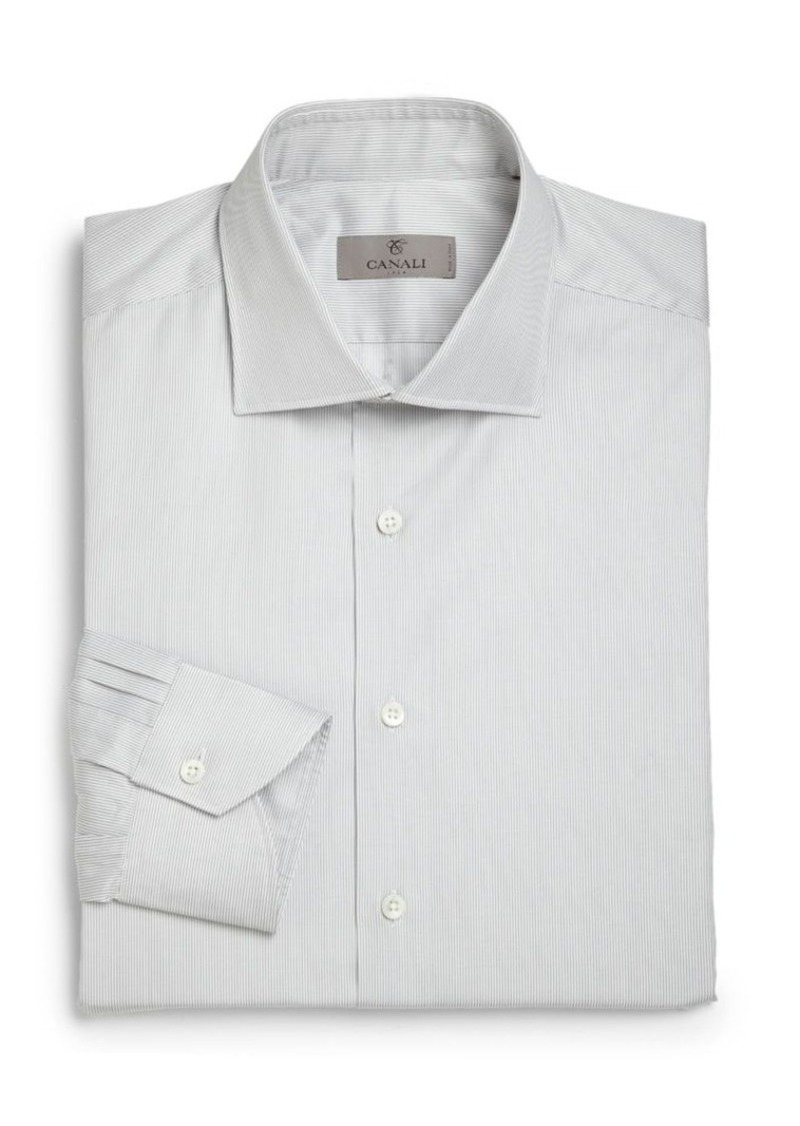Canali Modern Fit Slim Jim Dress Shirt