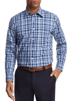Canali Multi Check Regular Fit Button-Down Shirt