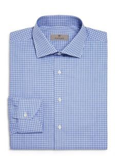 Canali Multi Check Regular Fit Dress Shirt