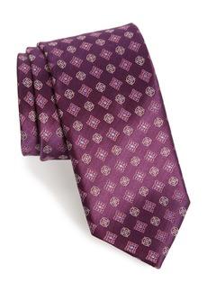 Canali Neat Silk Tie (X-Long)