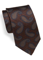 Canali Paisley Embroidered Silk Tie