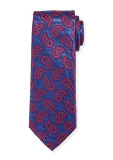 Canali Paisley Pines Silk Tie