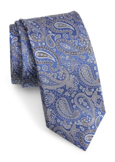 Canali Paisley Silk X-Long Tie