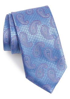 Canali Paisley Silk X-Long Tie