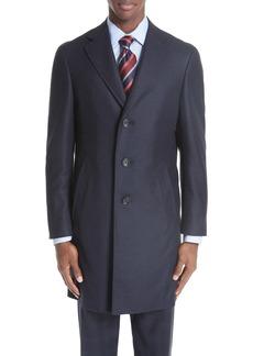 Canali Plaid Wool Top Coat
