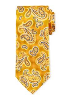 Canali Printed Paisley Silk Tie