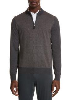 Canali Quarter Zip Wool Sweater