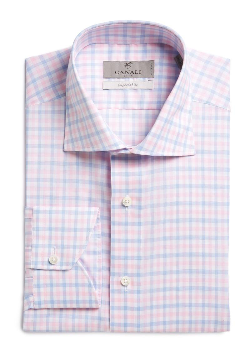 Canali canali regular fit check dress shirt dress shirts for Regular fit dress shirt