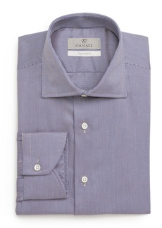 Canali Trim Fit Check Dress Shirt