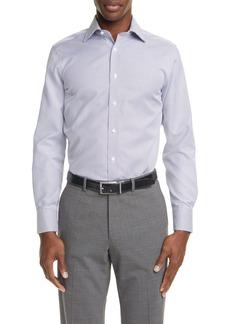 Canali Regular Fit Geo Non-Iron Dress Shirt