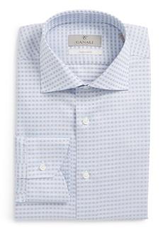 Canali Regular Fit Grid Dress Shirt