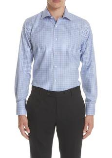 Canali Regular Fit Non-Iron Check Dress Shirt