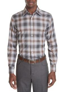 Canali Regular Fit Plaid Sport Shirt